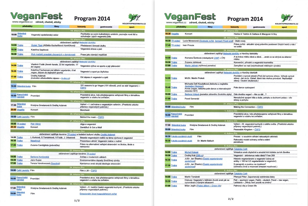 veganfest program